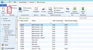 GL Setup for main accounts dynamics ax