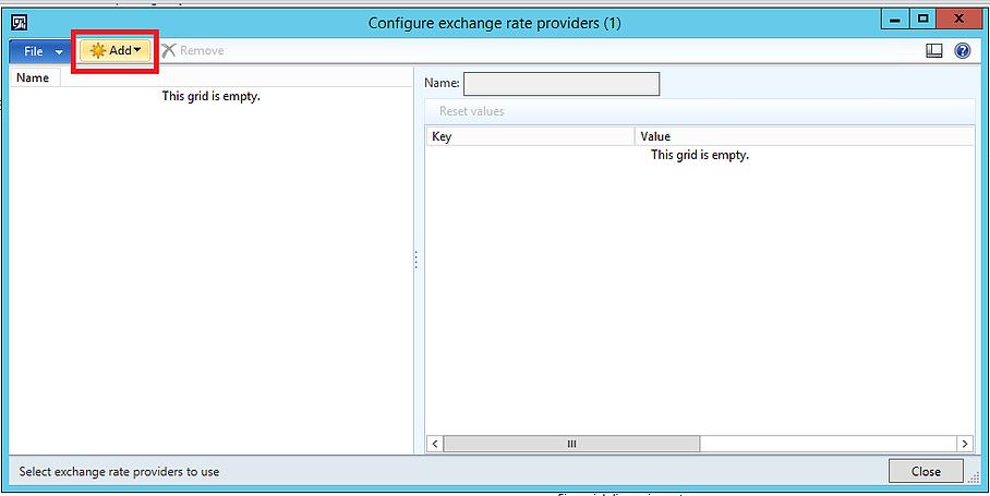 Configure exchange rate providers