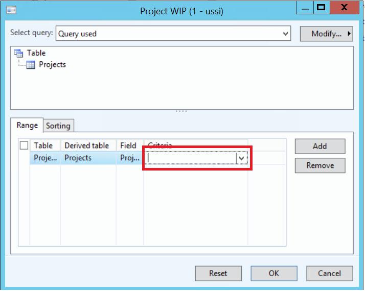 Project WIP dynamics ax