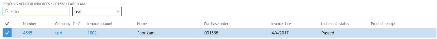 dynamics 365 vendor invoice details