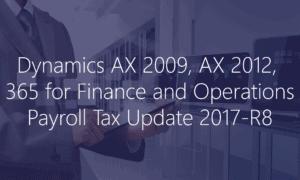 Dynamics AX Dynamics 365 Payroll Update