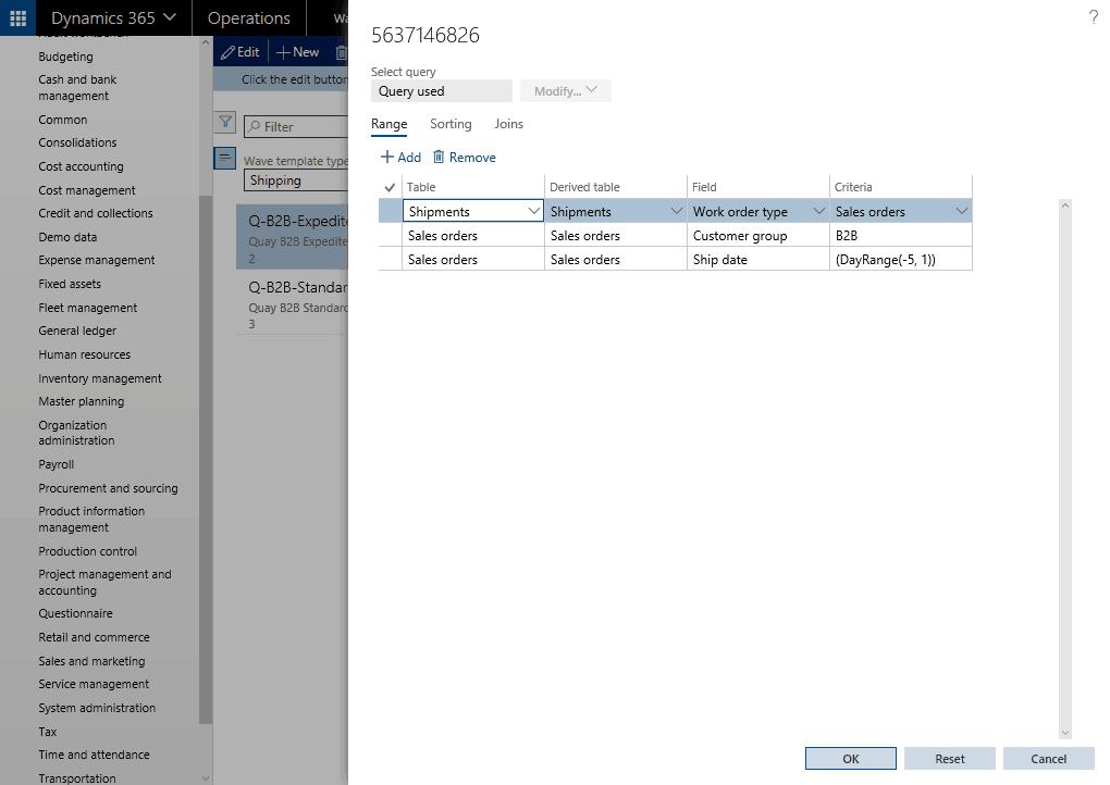 edit query dynamics 365